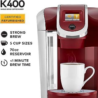 Keurig K400 Coffee Maker, Marsala (Certified Refurbished)