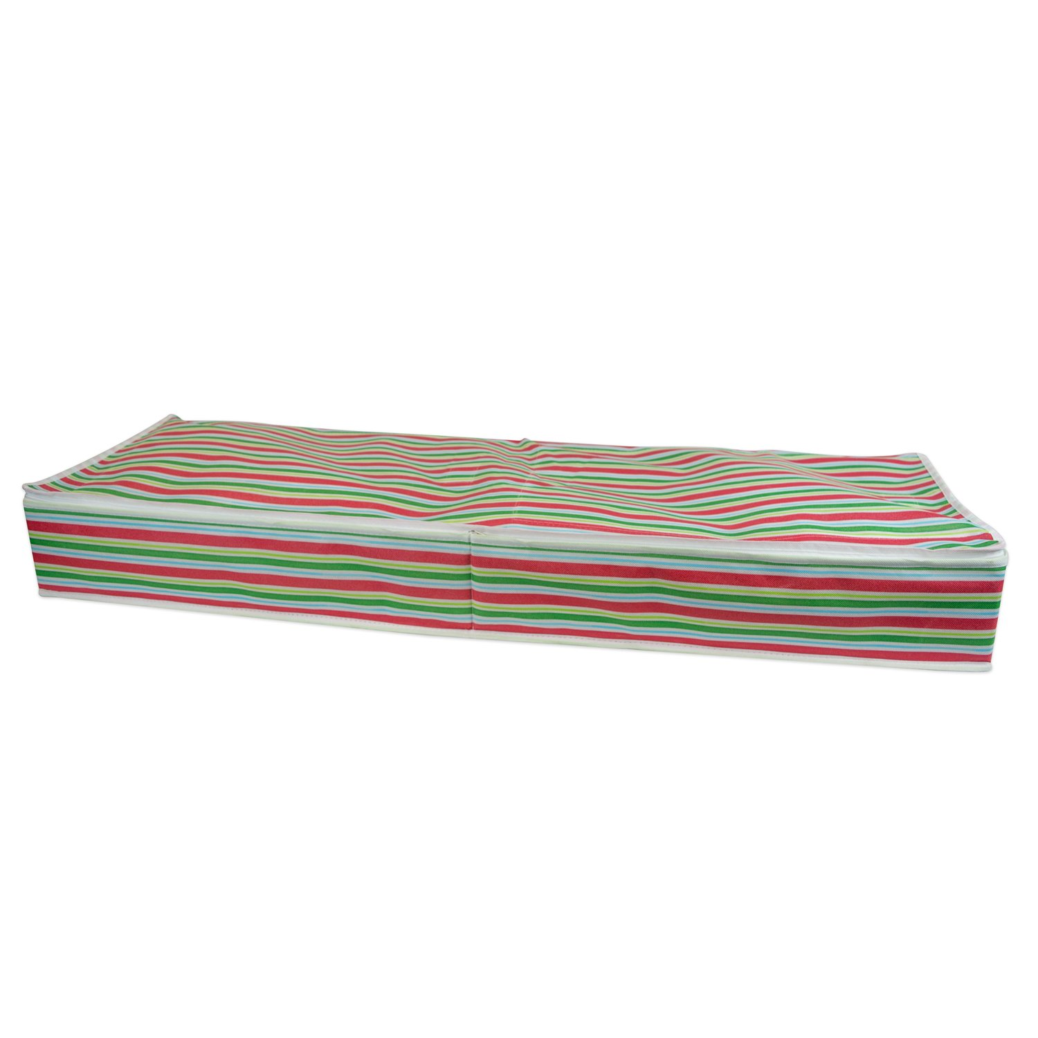 DII Holiday Storage Container for Gift Wrap, Ribbons, Bows (Stores up to 8 Rolls of Wrapping Paper) - Holiday Stripe