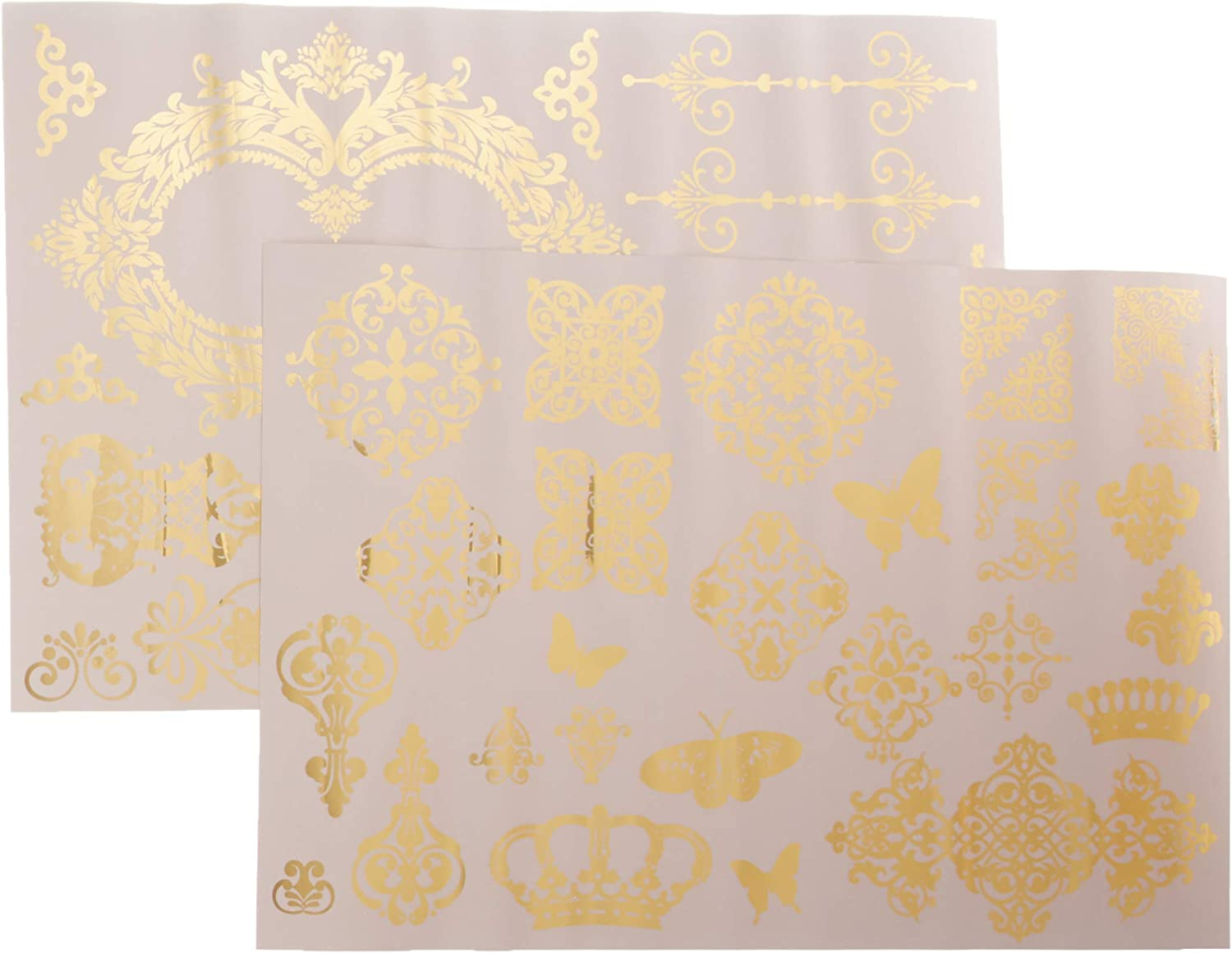 Prima Marketing Inc Gold Transfer - Gilded Baroque Scrollwork, Mixed