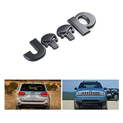 3D Sticker jeep Front Bonnet Emblem Boot Words jeep Head Hood Logo Sticker Wrangler Grand Cherokee Liberty Compass (Skull black): Automotive