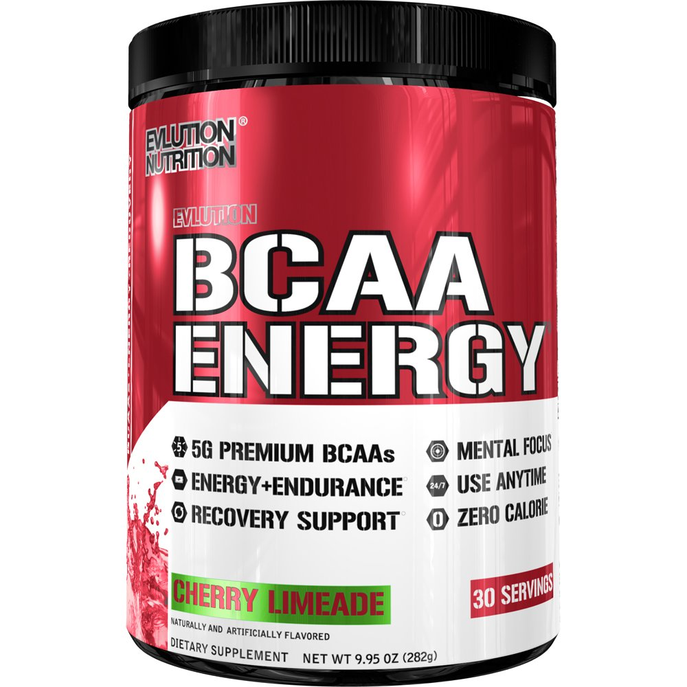 Evlution Nutrition BCAA Energy - High Performance, Energizing Amino Acid Supplement for Muscle Building, Recovery, and Endurance (30 Servings) Cherry Limeade