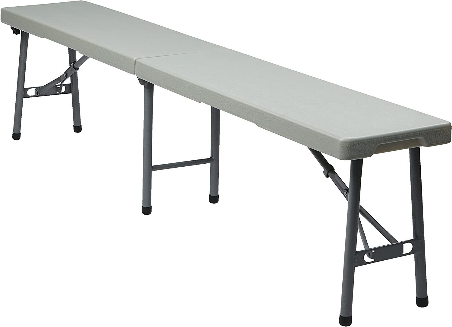 Office Star outdoor bench, 6', White: Kitchen & Dining