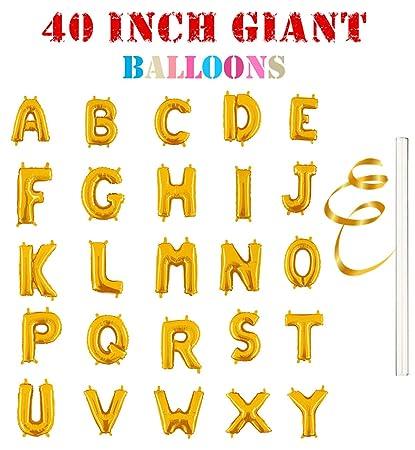 rose single gold alphabet letter balloons aluminum hanging foil film balloon mylar balloons
