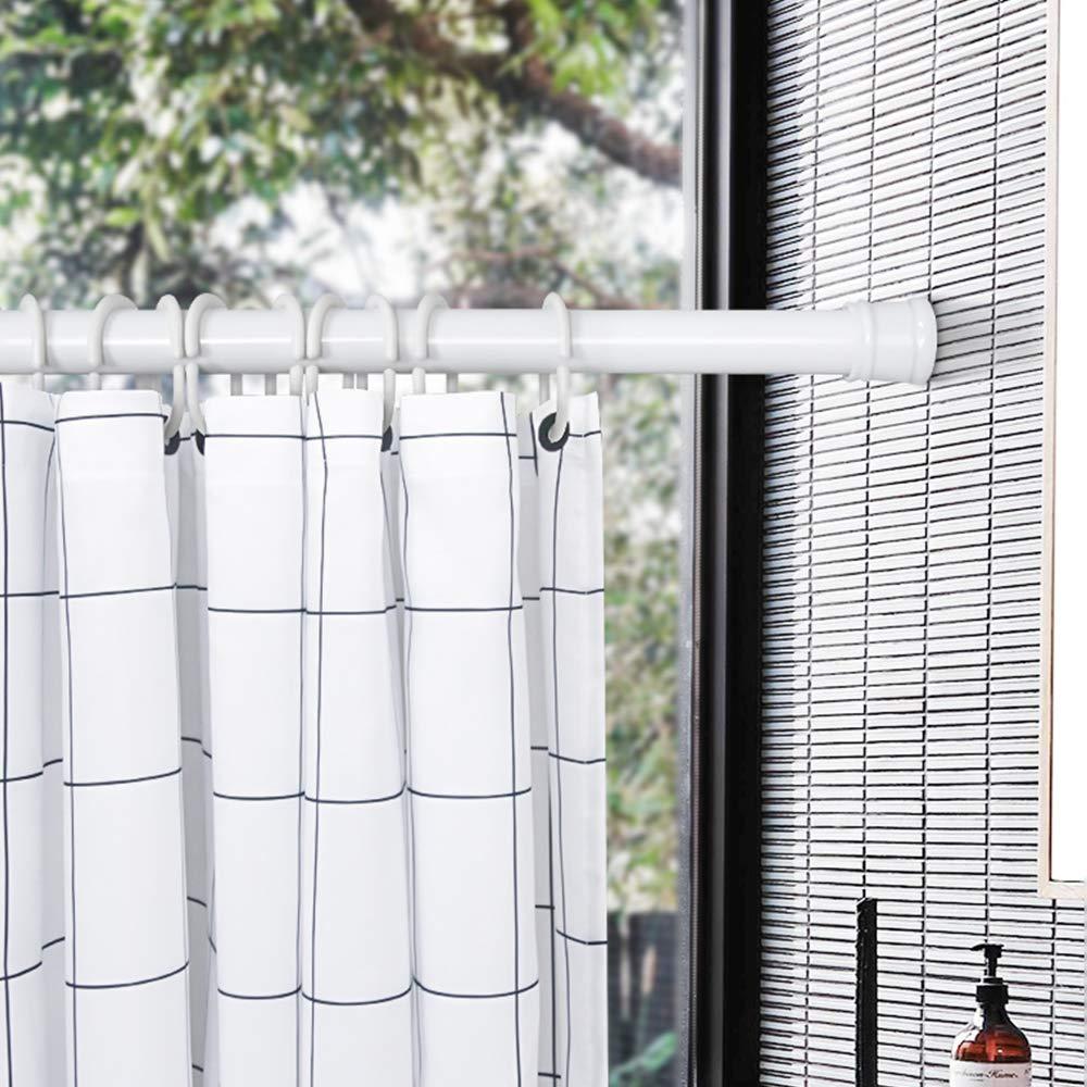 Argento HENGMEI Bastone tenda doccia Telescopica Estensibile Asta per Tenda in acciaio inossidabile fissa senza trapano 55-90cm