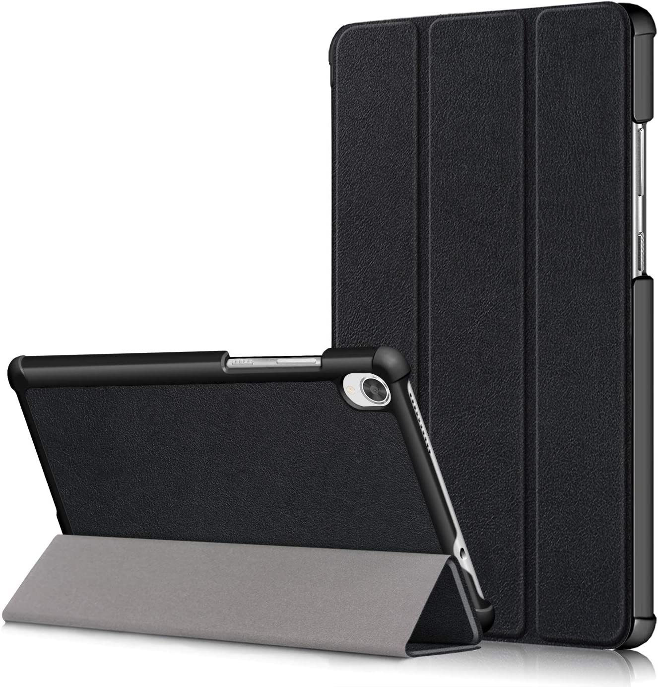 Gylint Lenovo Tab M8 Case, Smart Case Trifold Stand Slim Lightweight Case Cover for Lenovo Tab M8 FHD TB-8705F / TB-8705N / TB-8505F / TB-8505X Tablet Black