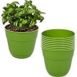 "Suncast8 Pack 4"" Fern Planters Green Resin Indoor Outdoor For Garden & Flowers USA"