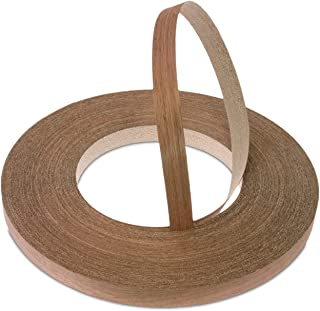22mm Real Walnut Pre-Glued Veneer Edging Tape - Superior Quality 50 Meter Trade Roll - Iron-On Wood for Easy DIY Application