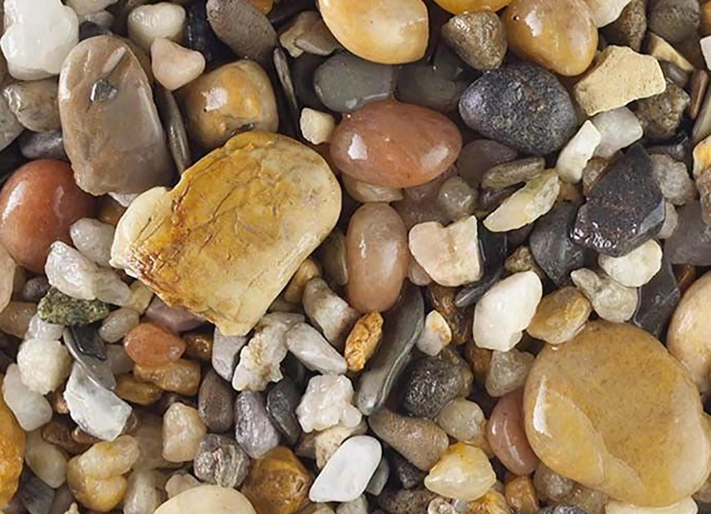 Safe & Non-Toxic {Various Sizes} 20 Pound Bag of Gravel, Rocks & Pebbles Decor for Freshwater Aquarium w/ Natural Rustic River Inspired Polished Earthy Toned Sleek Style [Gray, Tan & Brown] by mySimple Products