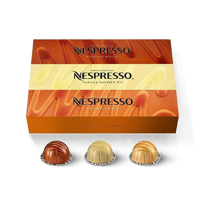 Nespresso Capsules VertuoLine, Barista Flavored Pack, Mild Roast Coffee, 30 Count Coffee Pods, Brews 7.8oz