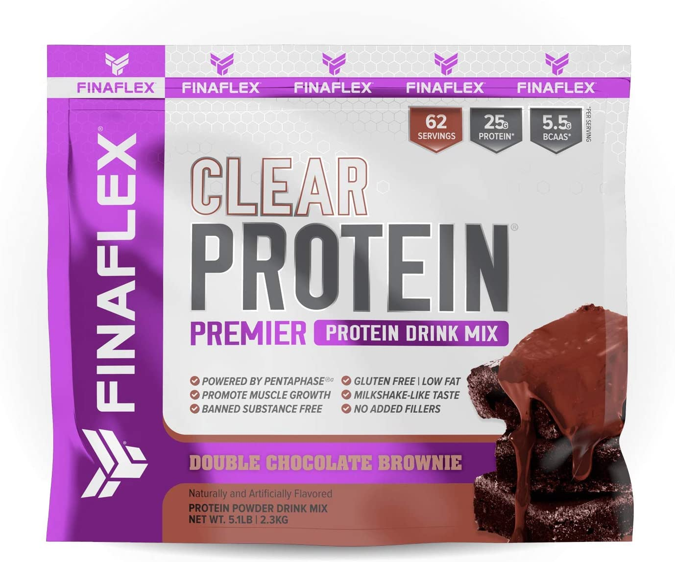 Finaflex Clear Protein Double Chocolate Premier Drink Mix 5.1 Pound, 5.0999999999999996 Pound