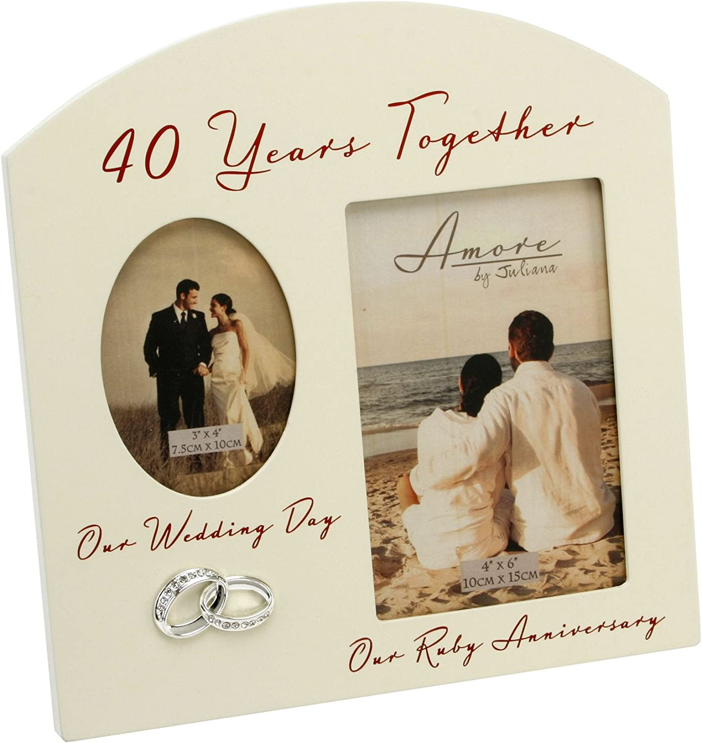 40th Anniversary Tree Then and Now by Shudehill giftware