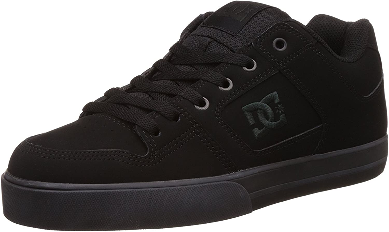 DC Mens Pure Leather Low Top Lace Up Skateboarding Shoes