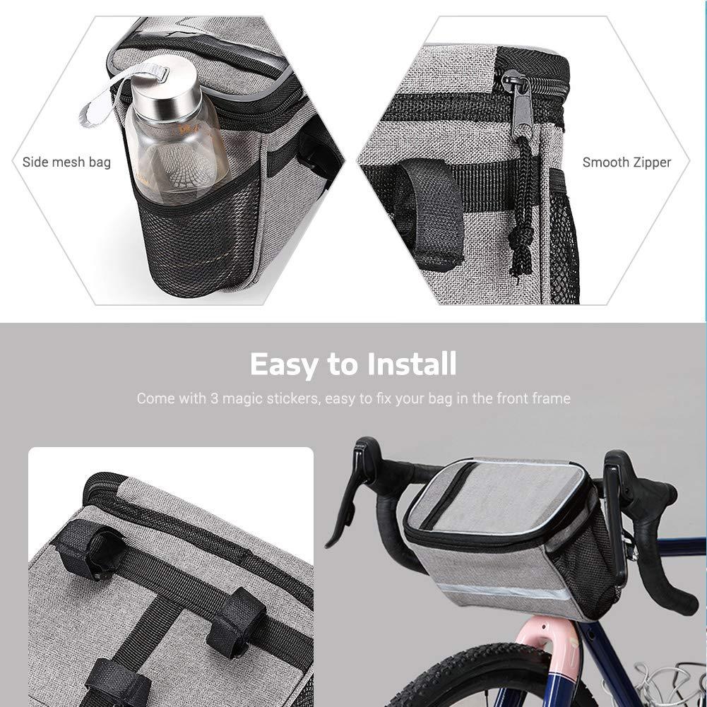 Joyfitness Bolsa de tel/éfono para Bici Pantalla t/áctil Bolsa de Manillar Impermeable para Ciclismo al Aire Libre