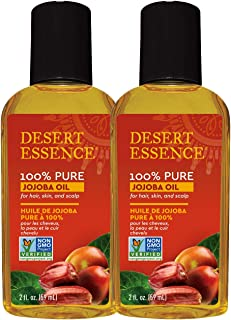 product image for Desert Essence 100% Pure Jojoba Oil - 2 Fl Oz - Pack of 2 - Haircare & Skincare Essential Oil - All Skin Types - No Oily Residue - May Help Prevent Flakiness - Makeup Remover - Aftershave Moisturizer