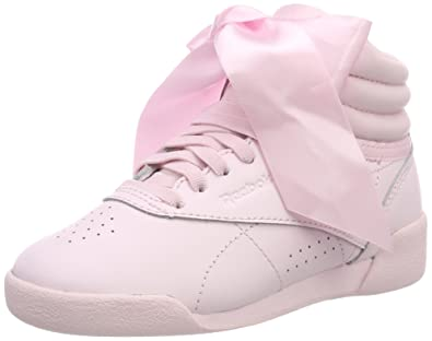 Reebok Mädchen Freestyle Hi Satin Bow Gymnastikschuhe, Pink (Porcelain Pinkskull Grey), 33 EU