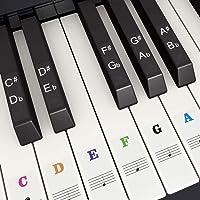 Pegatina de Piano Pegatinas de Teclados de Piano para 37, 49, 54, 61, 88 Teclas, Fansjoy Reemplazo Pegatinas Teclado de…
