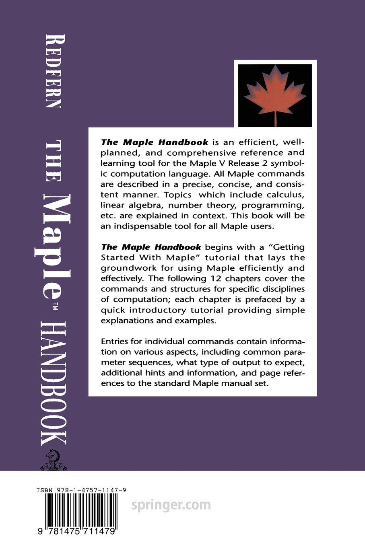 the maple handbook darren redfern 9781475711479 amazon com books rh amazon com