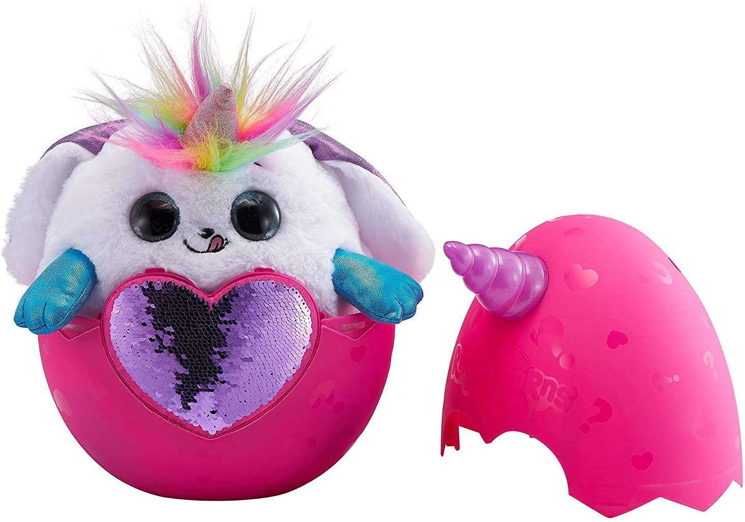 Rainbocorns Bunny Plush Toy White Rainbocorn