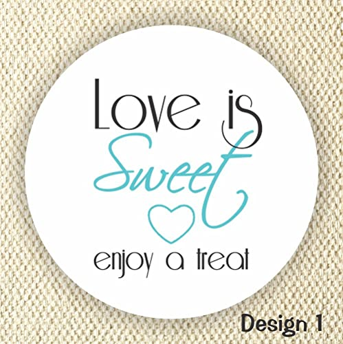 Love is sweet enjoy a treat thank you stickers wedding stickers anniversary stickers
