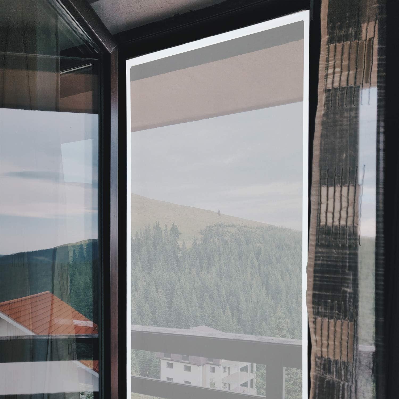 wolketon Fliegengitter fenster-Alurahmen M/ückenschutz Gaze Gaze M/ückengitter UV-Schutz Wasserdicht F/ür Wohnzimmer Fenster Balkone 100 x 120 cm