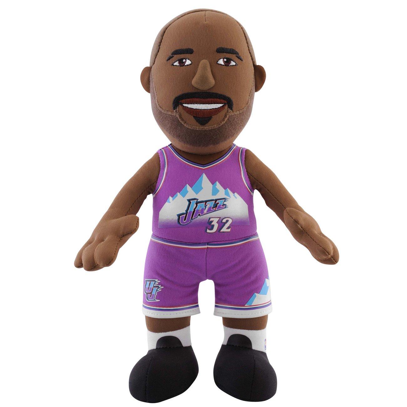 NBA Utah Jazz Karl Malone Player Plush Doll, 6.5-Inch x 3.5-Inch x 10-Inch, Blue