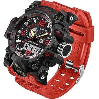 Amazon.com: SANDA reloj digital para hombre de moda ...