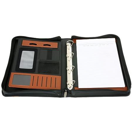 Aktenmappe Wellington Schreibmappe aus Bonded Leather mit pers/önlicher individueller Gravur Namen