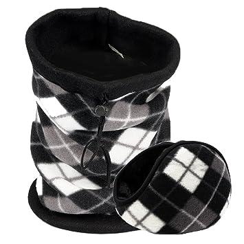 28cf5590db3 Double Layer Polar Fleece Neck Warmer Earmuffs Set - Neck Gaiter Tube Ear  Warmer Headband Face Mask  Amazon.co.uk  Sports   Outdoors