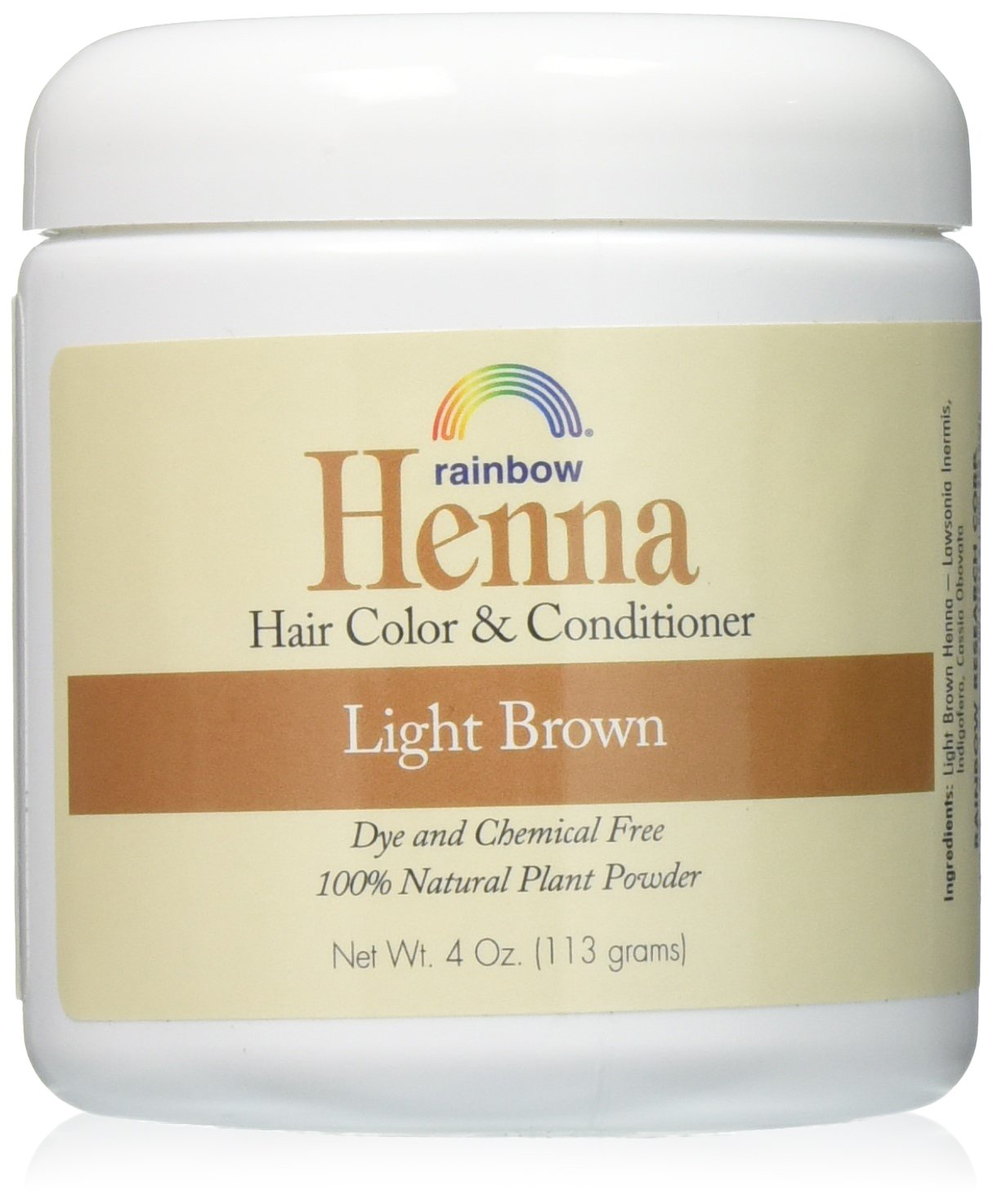 Amazon Rainbow Research Henna Persian Light Brown 4 Oz Pack