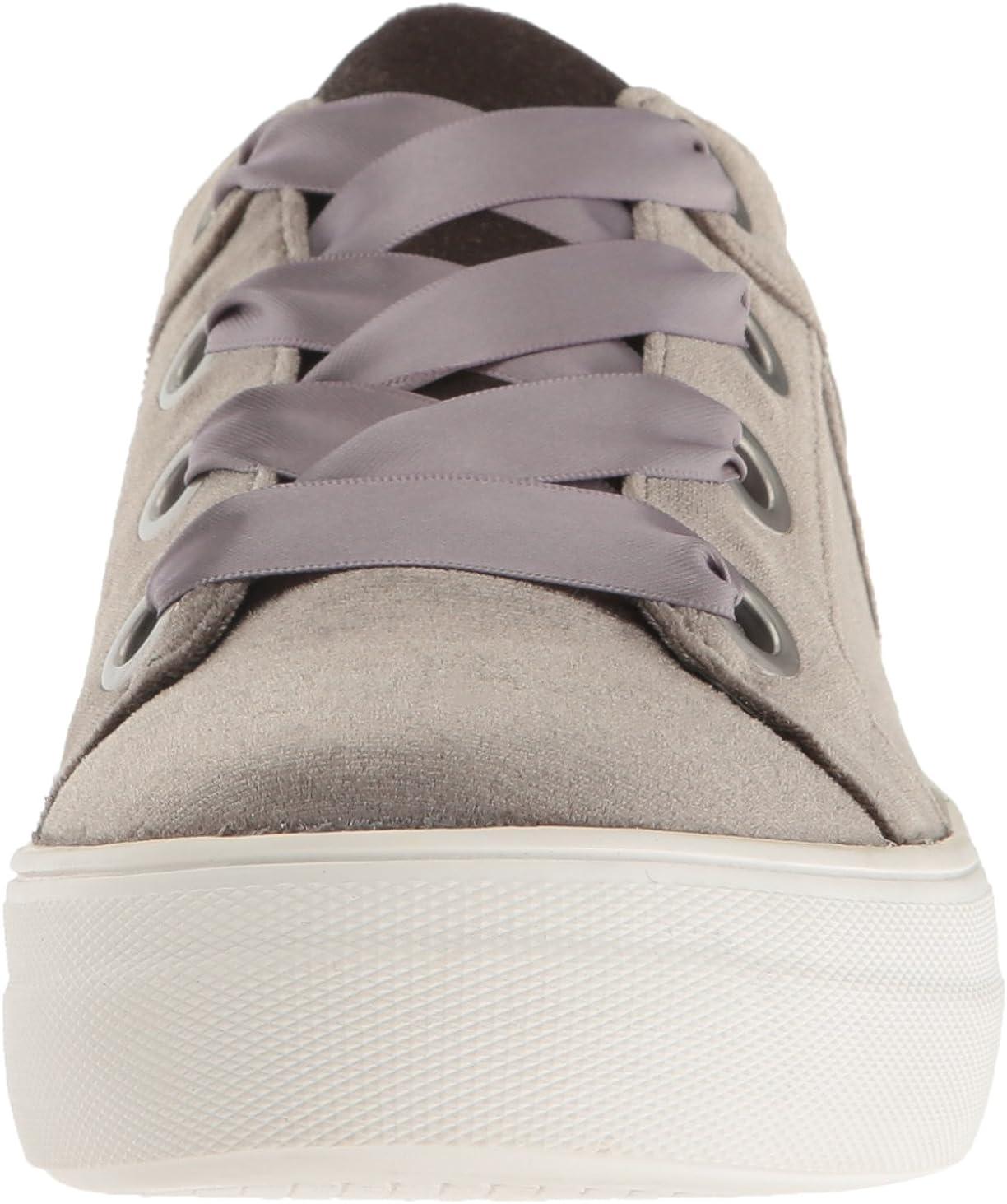 STEVEN by Steve Madden Women's Gator Fashion Sneaker Taupe Velvet