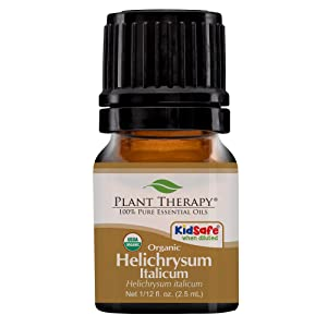 Plant Therapy Helichrysum Italicum Organic Essential Oil 100% Pure, USDA Certified Organic, Undiluted, Natural Aromatherapy, Therapeutic Grade 2.5 mL (1/12 oz)