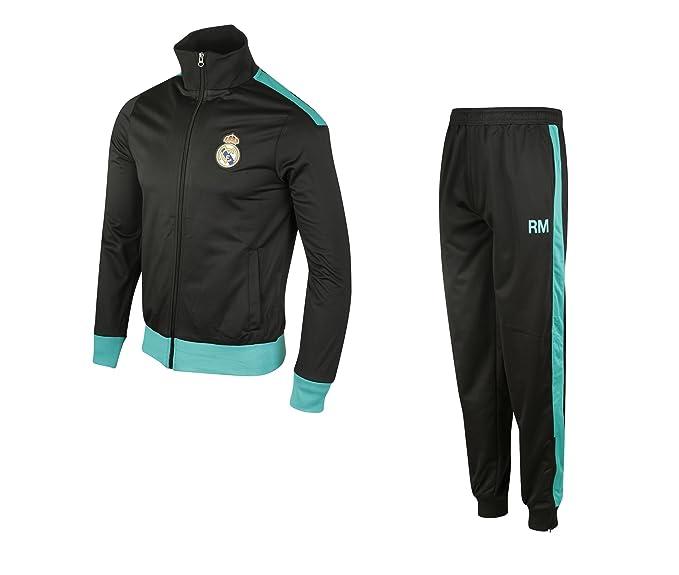 Real Madrid RMA-SE-8000 Traje de baño, Niño, Noir (Black/Ocean ...