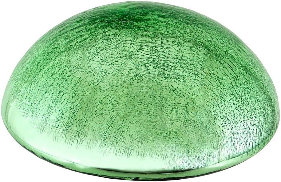 Achla Designs Glass Toadstool Mushroom Gazing Ball, Light Green