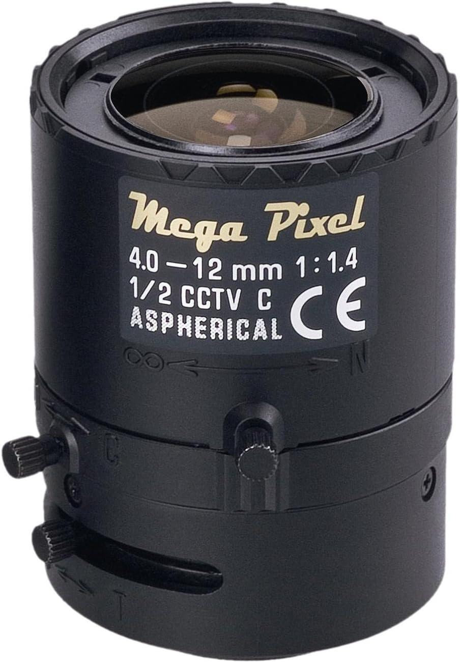 TAMRON M12VM412 1//2 4-12MM F//1.4 MANUAL IRIS MEGA PIXEL LENS