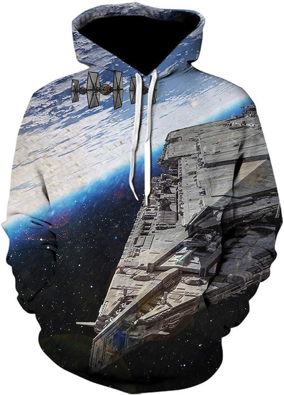 HOSD Cielo Estampado Capucha Camiseta Estrellado de con y Suéter Hombre