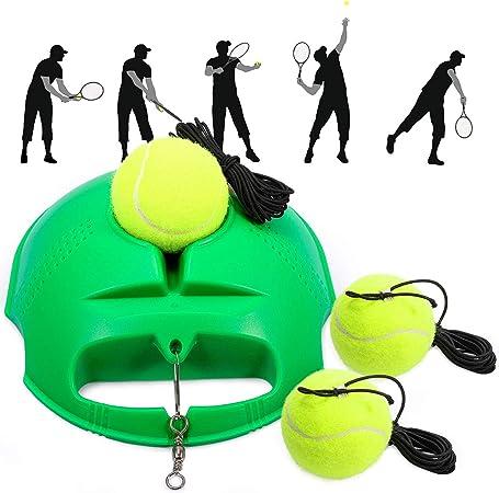 Tennis Trainer Set Practice Single Self-Study Training Base Tool Rebound Ball UK