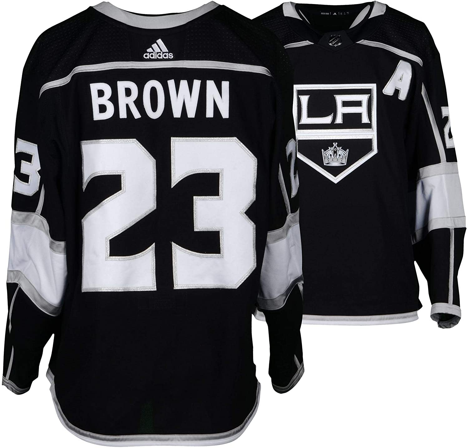 best cheap 95ab3 343d0 Dustin Brown Los Angeles Kings Game-Used #23 Black Jersey ...