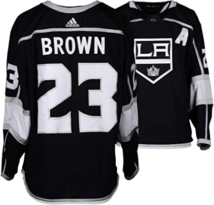 check out 210fb 2db45 Dustin Brown Los Angeles Kings Game-Used  23 Black Jersey with Assistant  Patch Jersey