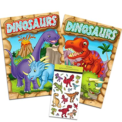 Amazon.com: Dinosaur Coloring Book Super Set Kids Toddler -- 2 Books ...