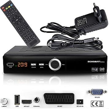 hd-line Receptor de satélite Digital Echosat 20900 M (HDTV, DVB-S/S2, HDMI, SCART, 2 Puertos USB 2.0, Full HD 1080p) [preprogramado para Astra, ...