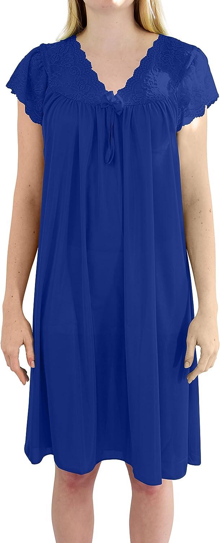1960s – 1970s Lingerie & Nightgowns Ezi Womens Debra Cap Sleeve Satin Nightgown $14.99 AT vintagedancer.com