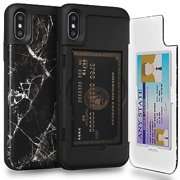 iPhone X ケース, TORU [iPhoneX ケース カード収納 おしゃれ] ICカード アイフォンX