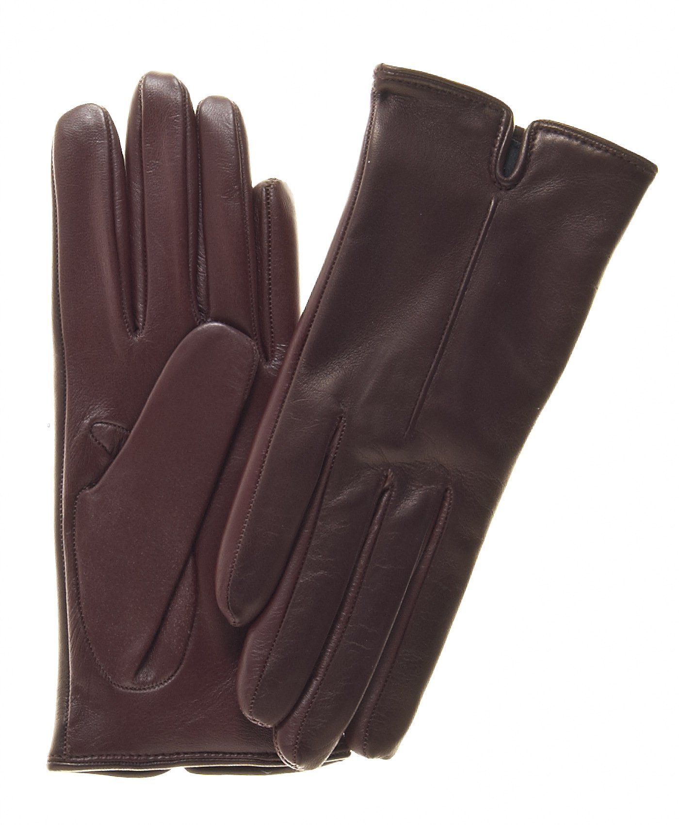 Fratelli Orsini Women's Touchscreen Italian Cashmere Lined Leather Gloves Size 6 1/2 Color Oxblood by Fratelli Orsini