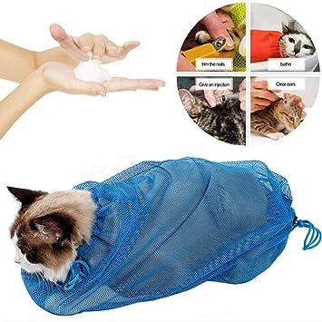 VICTORIE Bolsa de baño para Gatos Lavado Aseo Recorte de uñas Limpieza Cero restricción para Gato Perro Cachorro Mascota: Amazon.es: Productos para mascotas