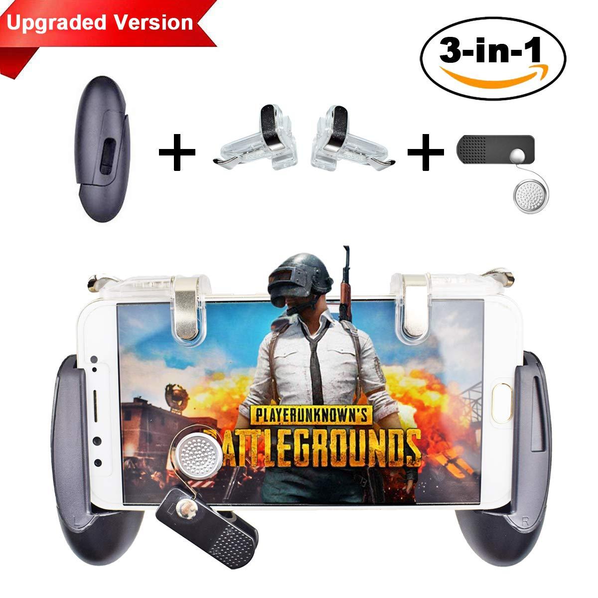 PUBG Mobile Game Controller - BESTZY 3-in-1 controller con gamepad, gaming trigger e joystick per telefoni da 4,5-7 pollici BU3017