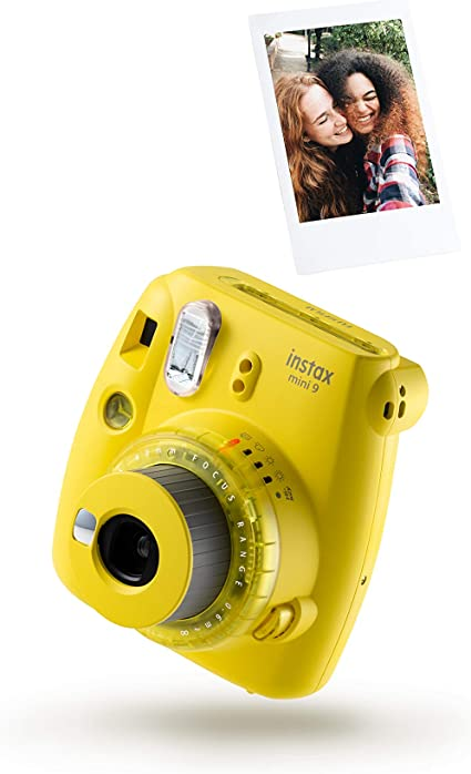 Instax Mini 9 Klare Kamera Mit 10 Aufnahmen Gelb Kamera