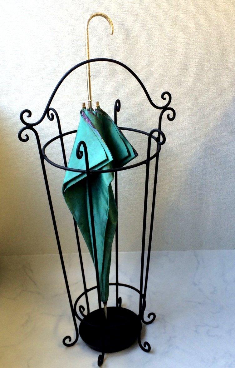 傘立て おしゃれ デザイン アイアン鉄職人の手作り 観葉植物を入れても美しいデザイン マットブラック B019S2QGWG