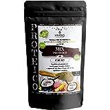 VIVOO RE-EVOLUTION   MIX/CONDIMENTO PROTEICO CACAO  Biologico, Raw   Senza Zuccheri aggiunti   No: glutine, Latticini, Soia, OGM   Vegano, Kosher   Ricco di Nutrienti   Confezione 150 g cad.