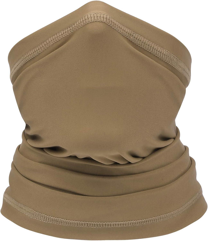 for Men /& Women Sun UV Protection Fishing Neck Gaiter BINMEFVN Summer Bandana Face Mask
