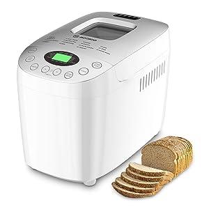 MOOSOO MAX 3.5LB Bread Machine, Automatic Bread Maker With Gluten-Free Setting